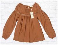 CREAM DK / 10603813 Bluse mit Spitze / BROWN /  38 - M (L)