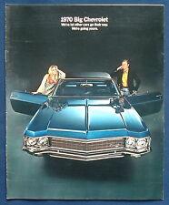 Prospekt brochure 1970 Chevrolet  Caprice  Impala  Bel Air  (USA)