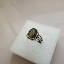 Stunning Labradorite Ring in hand crafted Sterling Silver