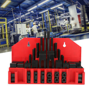 "58 Pcs Pro-Series 7/16"" T-Slot Clamping Kit Mill Machinist Set Up Set 3/8-16"