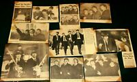 BEATLES & BEATLEMANIA MEMORABILIA -VINTAGE 1960's 10 ORIGINAL NEWSPAPER PICTURES