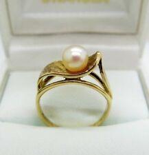 Vintage Pearl 9K Gold Ring Size L (50 7/8)
