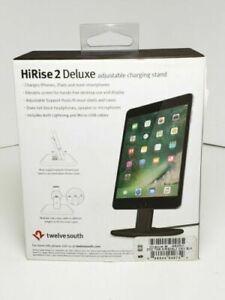 Twelve South HiRise 2 Deluxe Lighting Charging Stand, Black