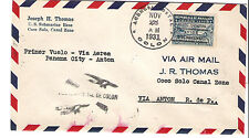 Panama M70h Variety Internal Airmail First Flight Cover