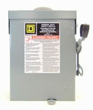 Square D Safety Disconnect Switch D211nrb Series Plug Fuse 30 Amp 60 Hz