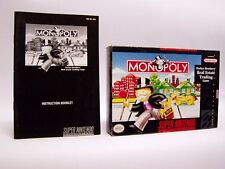 MONOPOLY Box & Manual only SNES SUPER NINTENDO