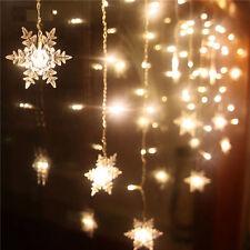 20 LED Christmas Snowflake Fairy String Lights Garden Wedding Party Decor Lamps