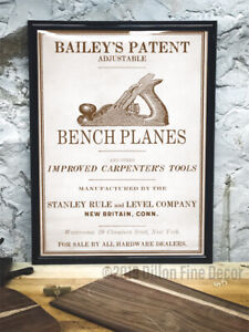 Stanley Bailey Vintage Repro SEPIA Print, Sweetheart SW Bed Rock Sargent Plane