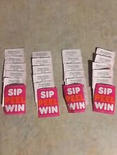 ☕️☕️Dunkin Donuts Sip Peel Win (20) $1 Any Size Cold Brew Coffee Q's TICKET