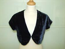 NEXT Navy Blue Short Velvet  Bolero Vintage Steampunk Style size UK 10
