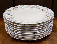 "* Set of 10 * Villeroy & Boch MARIPOSA -- 10-1/2"" Dinner Plates Plate Set"