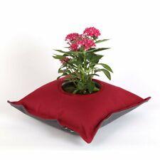 Fiorina Flower Planter Pillow, Bordeaux