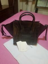 Celine phantom crocodile embossed leather handbag - XL Purse.