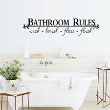 """Home Art PVC Wall Quote Stickers """"bathroom Rules"""" Decoration Decals Waterproof"""