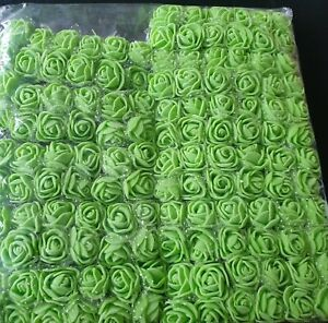 132pcs/lot artificial flower  lace foam rose bouquet For wedding home: green