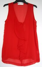 BNWOT RED CHIFFON TOP size 10 by INTERnacionale