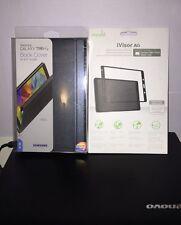 Samsung Galaxy Tab S 8.4 Book Cover & Moshi iVisor Screen Protector -Black