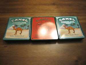 LOT OF 1990'S ERA CAMEL CIGARETTE TINS CIGARETTE CASES VERY GOOD CONDITION