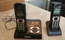 Panasonic Landline Phone (black, used in working condition, two handsets)