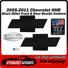 2005-2011 Chevrolet HHR Black Billet Bowtie Front & Rear Emblem AMI 96103K