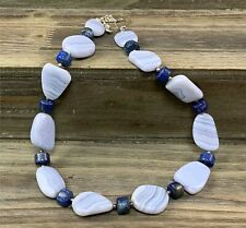 Jay King DTR Sterling Silver Strand Necklace, Light Blue (Kyanite?) and Lapis