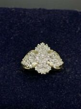 10 Kt Yellow Gold Diamond Cluster Ring, Size 6 1/2 ,  3.8 grams