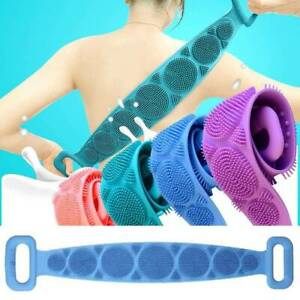 NEW Body Cleaner Bathing Massage Dual Sided Brush Spa Silicone Back Scrubber