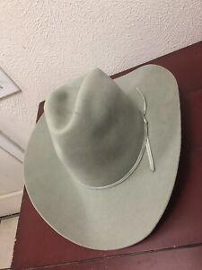 American Hat Co. Houston Tx Felt Hat Natural Color 7 1/2 Rancher Long Brim NWOT