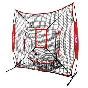 7×7' Baseball Net Softball Teeball Practice Hitting Batting Training Aid W/Bag