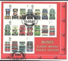 GB 2001 150th Anniv of First Double-Decker Bus MINISHEET fine used set stamps