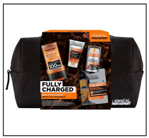 L'Oreal Men Expert Fully Charged Washbag Gift Set for Men, Hydra Energetic