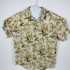 Margaritaville White XL Aloha Hawaiian Shirt Bird of Paradise Rayon
