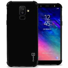 Black For Samsung Galaxy A6 Plus 2018 Case - Flexible TPU Rubber Gel Phone Cover