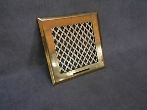 French Vintage brass HEATING GRATE VENT PLAQUE