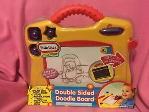 Little Tikes DOUBLE-SIDED DOODLE BOARD ~ CHALK BOARD Draw & Erase  NEW~FREE SHIP