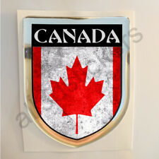 Canada Sticker Resin Domed Stickers Flag Grunge 3D Adhesive Gel Decal Car Moto