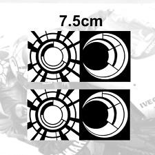 """2x Valentino Rossi Sticker SUN and MOON Vinyl Decal (3"""") 2tone 2013 BLACK/WHITE"""