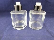 Clear Plain Round Glass Reed Diffuser Bottles - 2 Bottles.