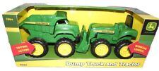 John Deere Mini Sandbox Tractor & Dump Truck Set Preschool Farm Toy