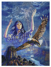 "Dufex Foil Picture Print - Thunderbird Maiden - size 6"" x 8"""