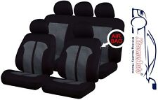 9 PCE Black & White Stitching Full Set of  Seat Covers for Kia Cee'd Picanto Sed