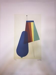 Man Ray Lithography CM 50x65 Signature Pencil Certificate With