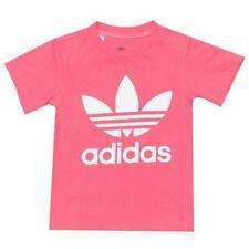 Girl's Adidas Originals Bebé Trébol REGULAR fit cuello redondo camiseta en rosa