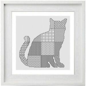Blackwork Cat - Cross Stitch Kit