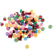 100Pcs/Lot 10mm Fruits Beads Polymer Clay Beads Mixed Color DIY Jewelry