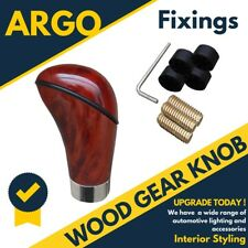 Wood Gear Stick Knob Leaver Shifter Abs Car Van High Shine Gloss Manual