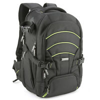 Evecase Large DSLR Camera Laptop Travel Backpack Gadget Bag w/ Rain Cover