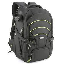 Evecase Large DSLR Camera Laptop Travel Backpack Gadget Bag w/ Rain Cover