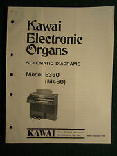 Kawai Electronic Organ E360 M460 Schematic Diagrams Manual E 360 M 460 Repair