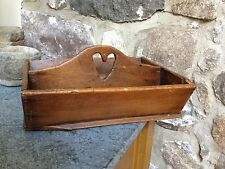 Antique Handmade Wooden Serving Tray Colonial Vintage Box AAFA